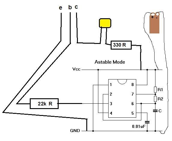 транзистор тестер на ne555