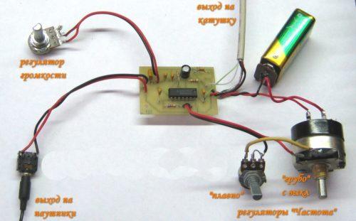 Простой металлоискатель на микросхеме К561ЛА7