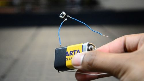 Led светодиодный фонарь из Кроны 9 Вольт своими руками LED 1W