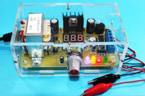 кит набор блок питания на lm317 от 1,25 вольт до 12,5 вольт