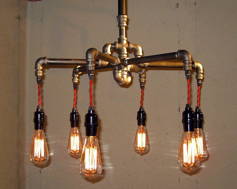 ретро светильник из сантехнических труб