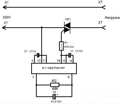схема плавного пуска для болгарки дрели шуруповёрта