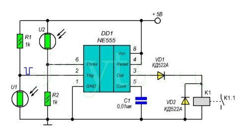 Дистанционный выключатель света на основе лазера