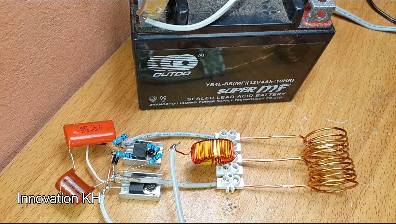 Индукционный нагреватель 12В на транзисторе IRF3205