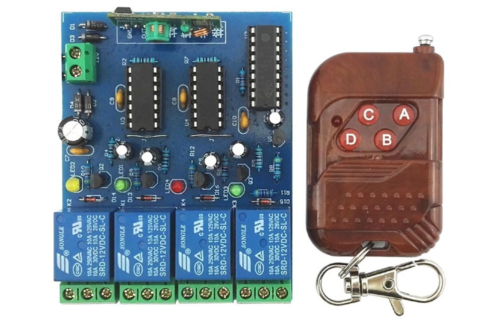 kit набор дистанционное управление на 4 канала своими руками
