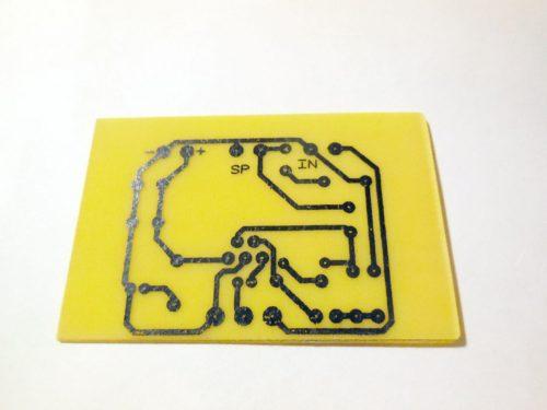 Усилитель на микросхеме TDA2003 печатная плата