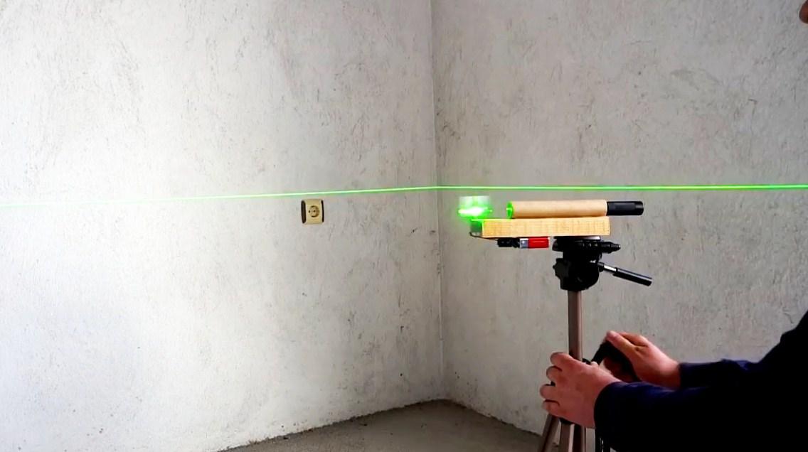 Лазерный уровень из указки своими руками