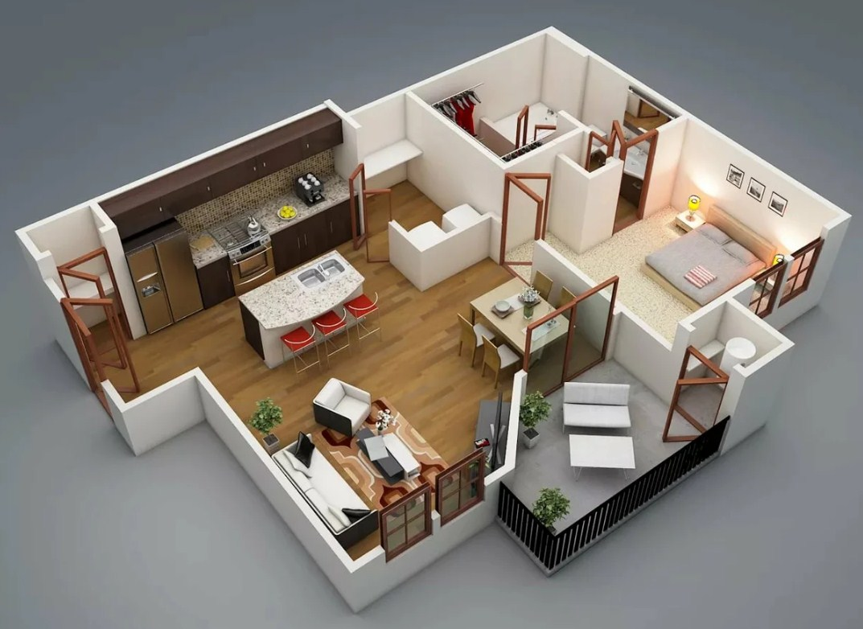 планировка дома и квартиры